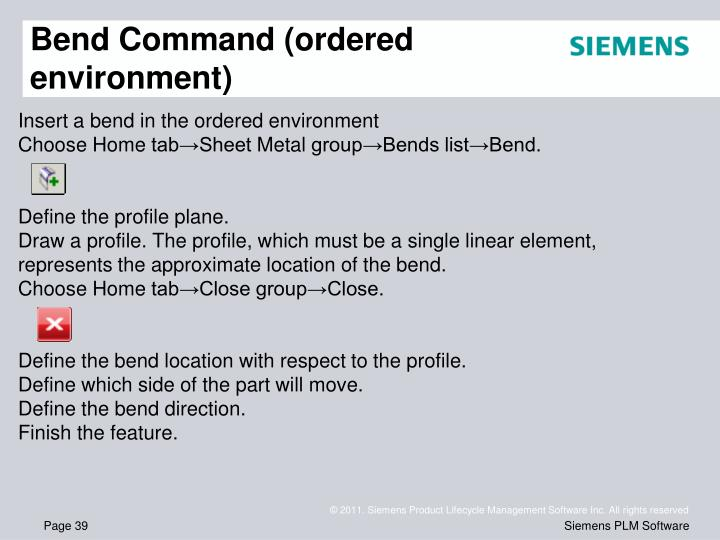 Bend Command (ordered environment)