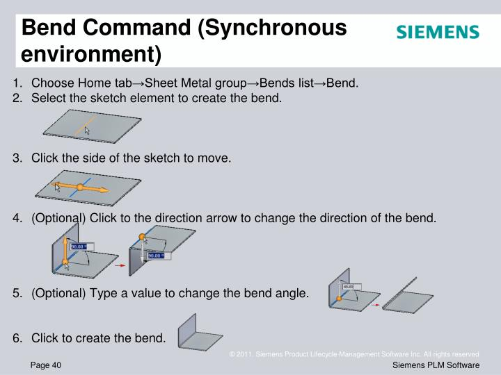 Bend Command (Synchronous environment)