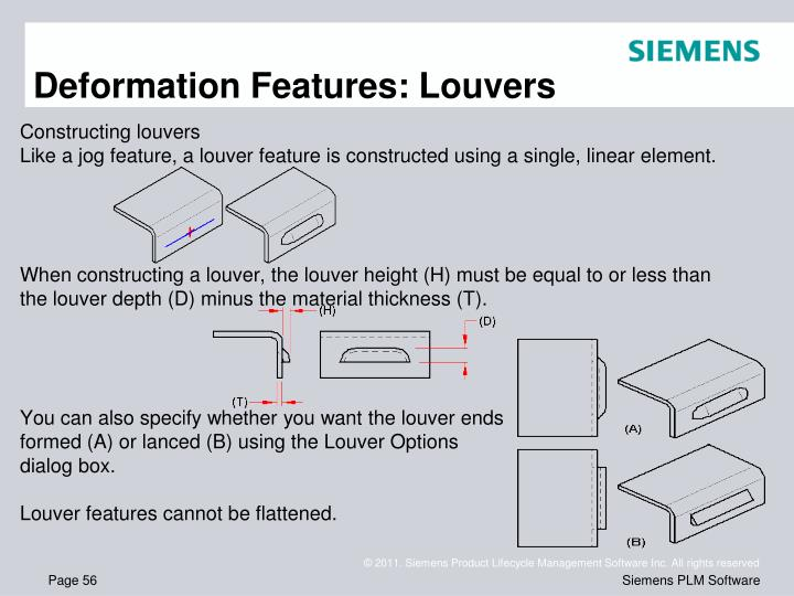 Deformation Features: Louvers