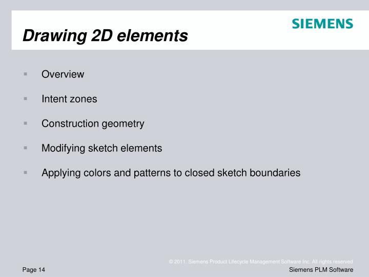 Drawing 2D elements