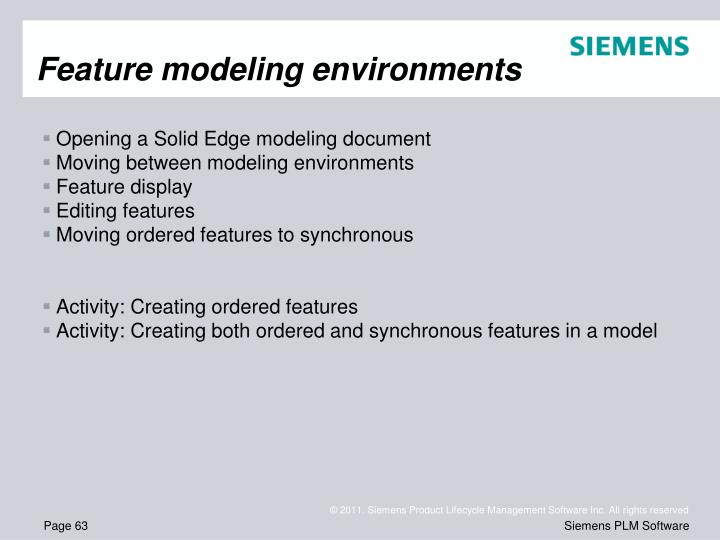 Feature modeling environments