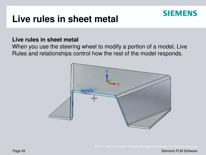 Live rules in sheet metal