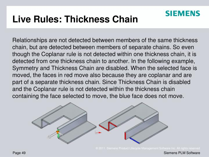 Live Rules: Thickness Chain