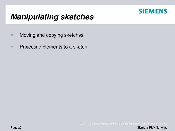 Manipulating sketches