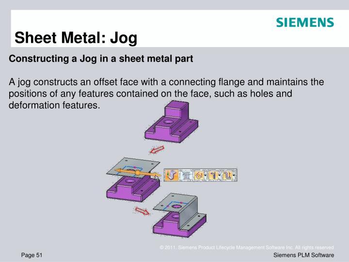 Sheet Metal: Jog