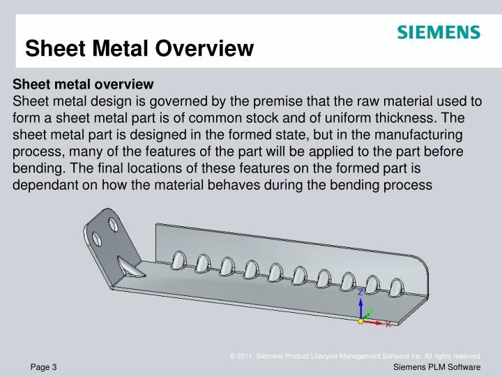 Sheet Metal Overview