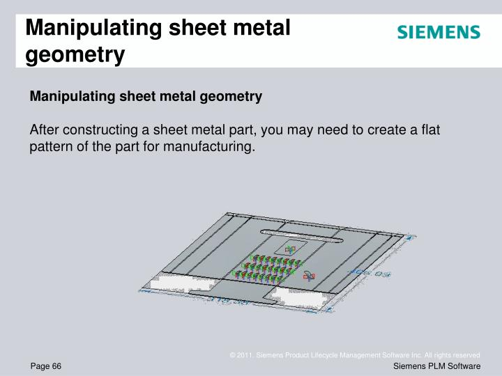 Manipulating sheet metal geometry