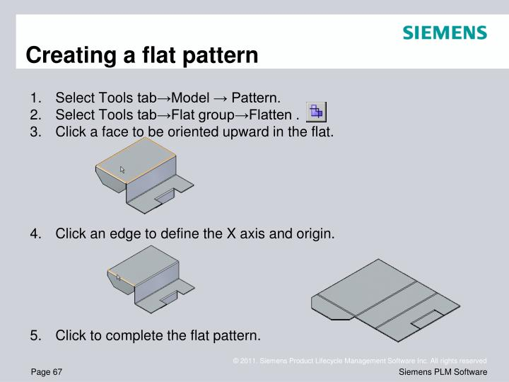 Creating a flat pattern