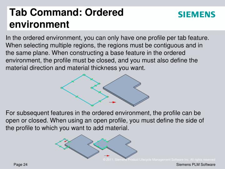 Tab Command: Ordered environment