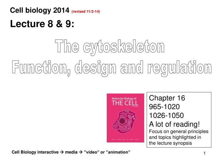 Cell biology 2014