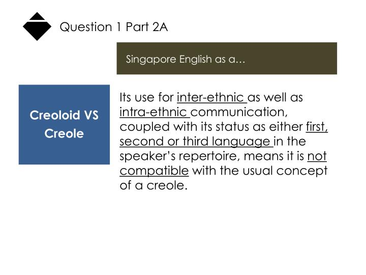 Question 1 Part 2A