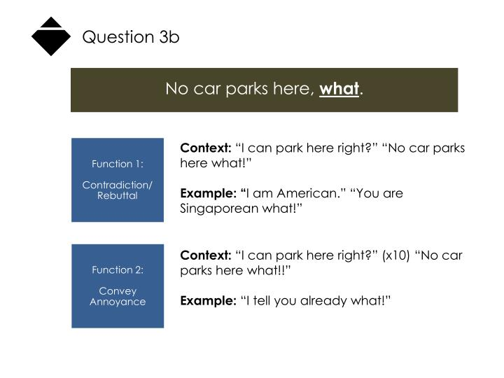 Question 3b