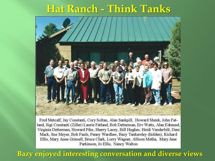Hat Ranch - Think Tanks