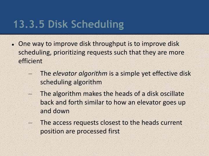 13.3.5 Disk Scheduling
