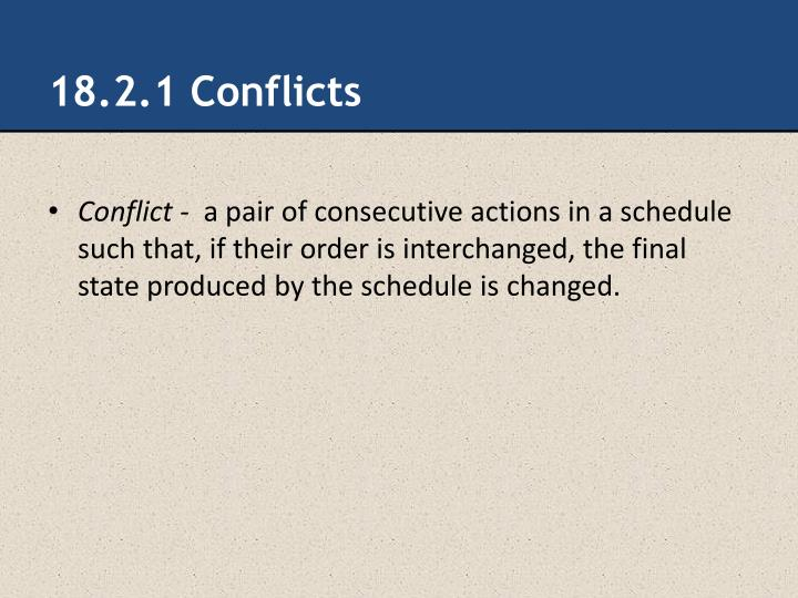 18.2.1 Conflicts