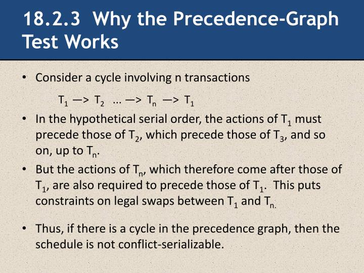 18.2.3  Why the Precedence-Graph Test