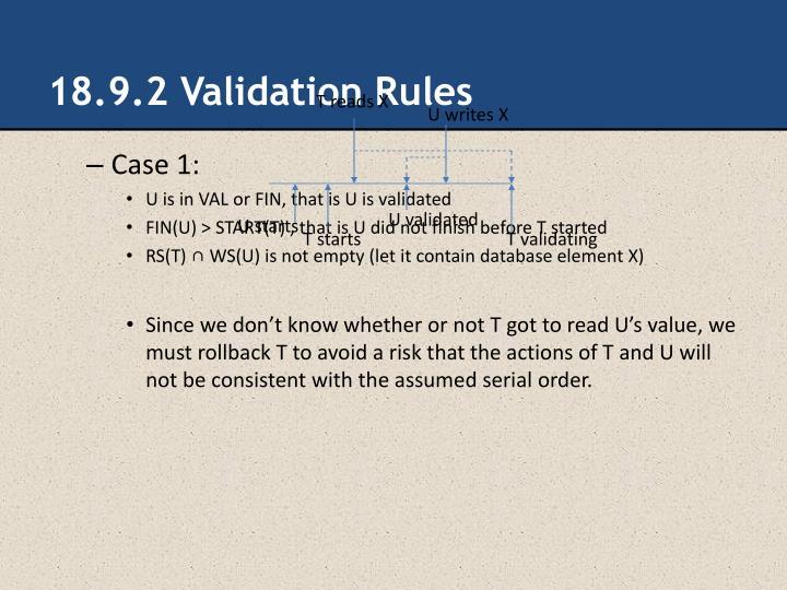 18.9.2 Validation Rules