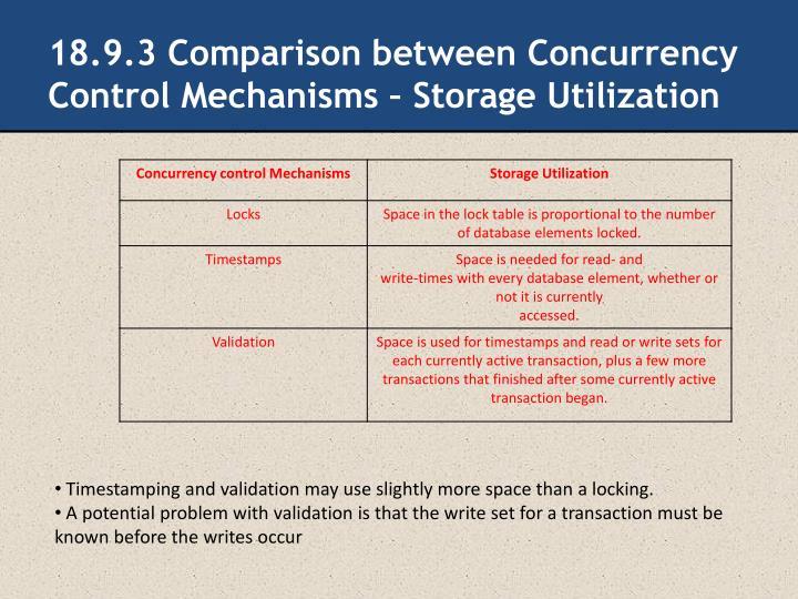 18.9.3 Comparison between Concurrency Control Mechanisms – Storage Utilization