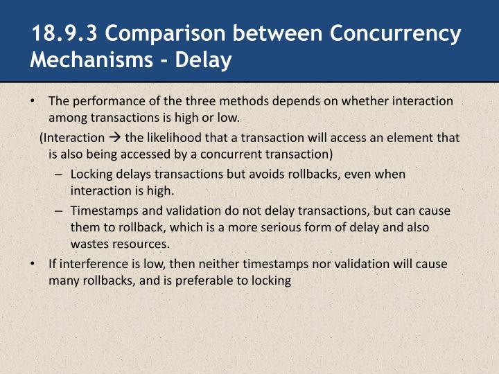 18.9.3 Comparison between Concurrency Mechanisms - Delay