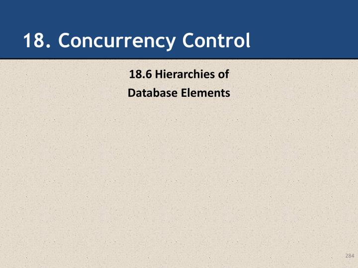 18. Concurrency Control