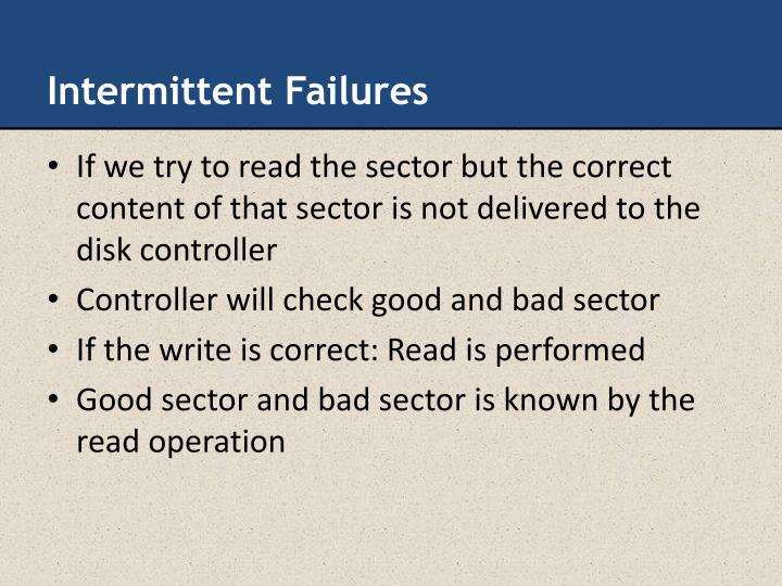 Intermittent Failures