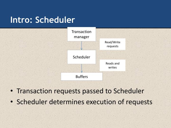 Intro: Scheduler