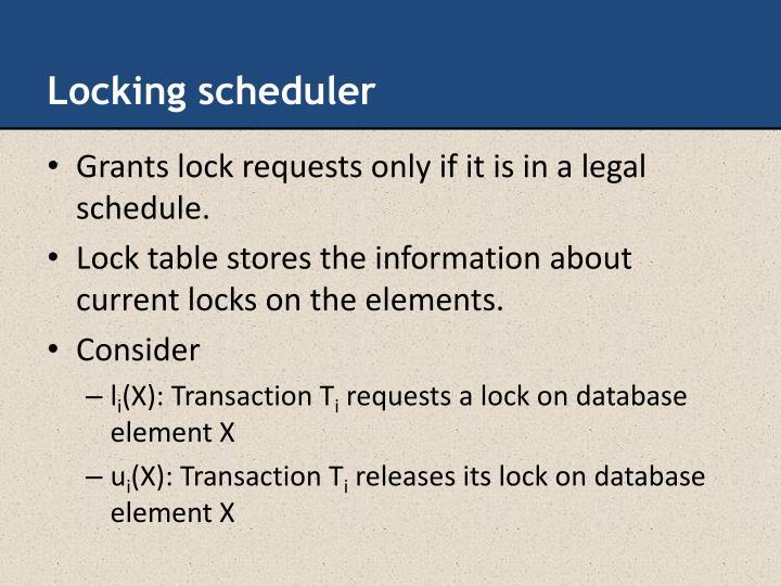 Locking scheduler