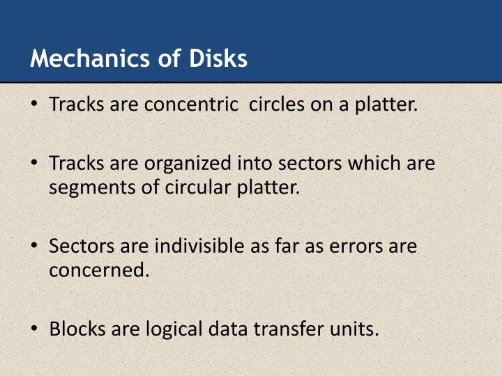 Mechanics of Disks
