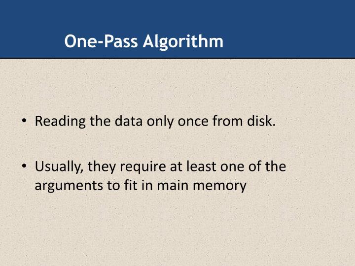 One-Pass