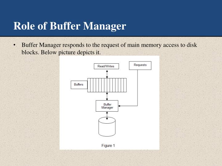 Role of Buffer Manager