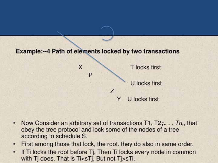 Example:--4 Path of elements locked by two
