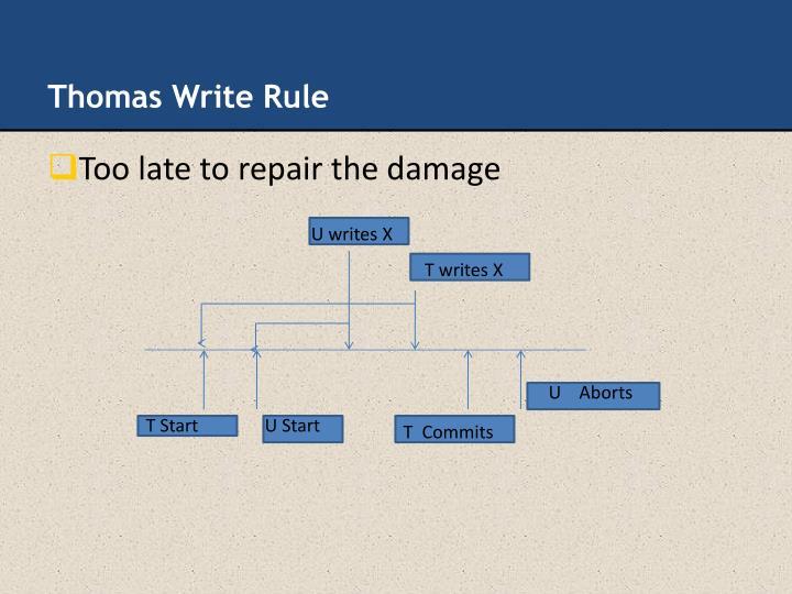 Thomas Write Rule