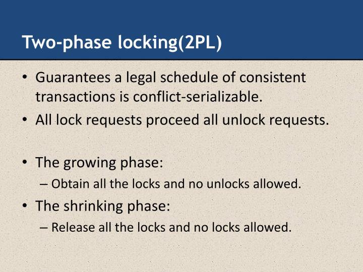 Two-phase locking(2PL)