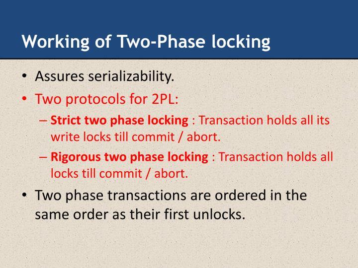 Working of Two-Phase locking