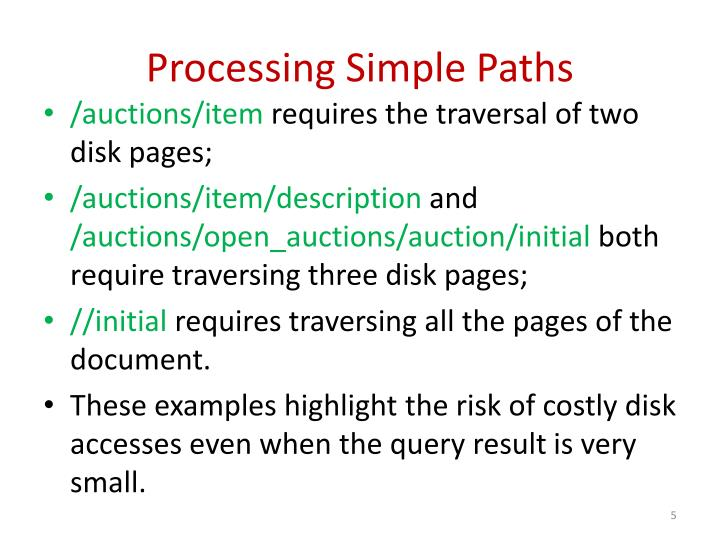 Processing Simple Paths