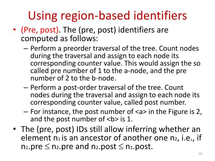 Using region-based identifiers