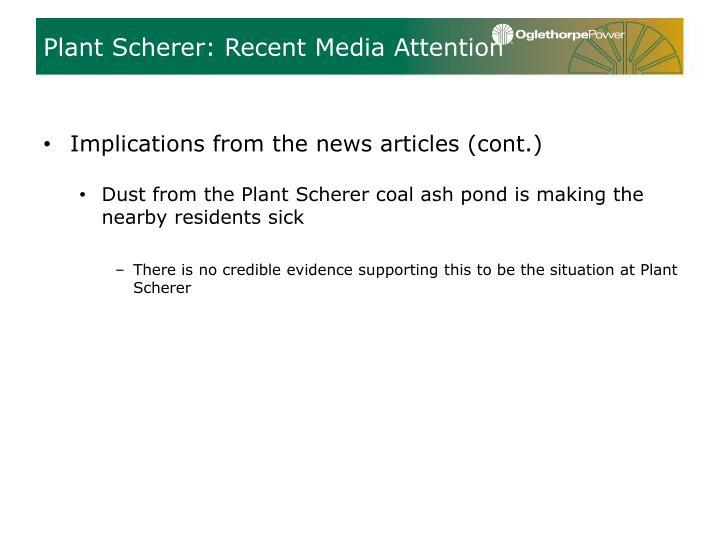 Plant Scherer: Recent Media Attention