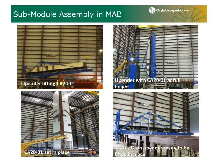 Sub-Module Assembly in MAB