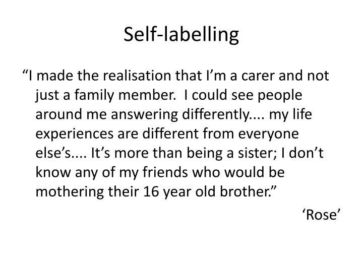 Self-labelling