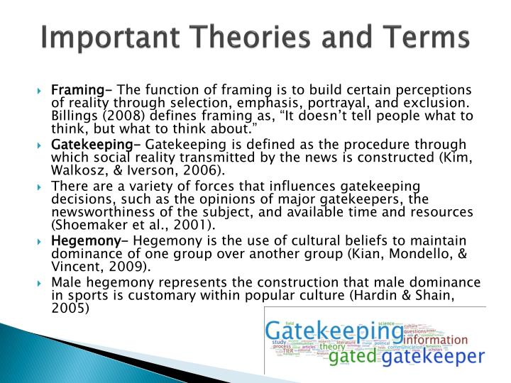 Important Theories and Terms
