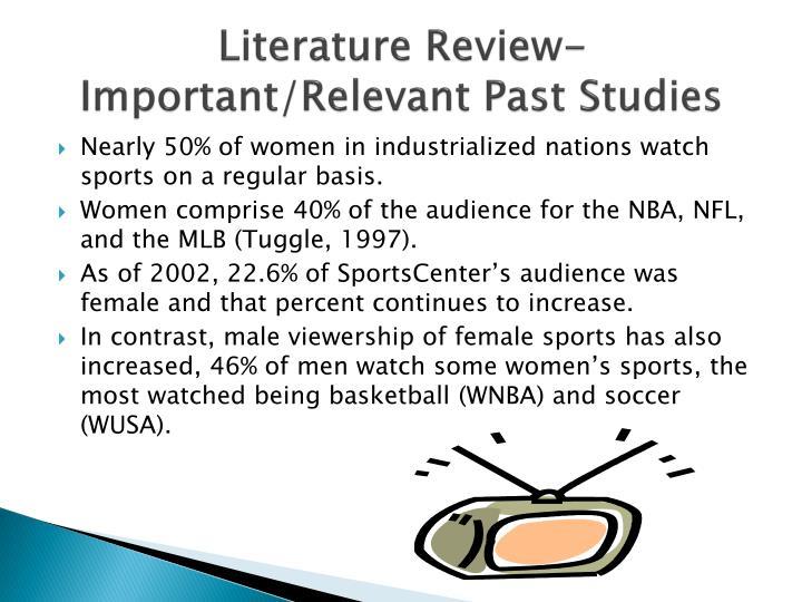 Literature Review- Important/Relevant Past Studies