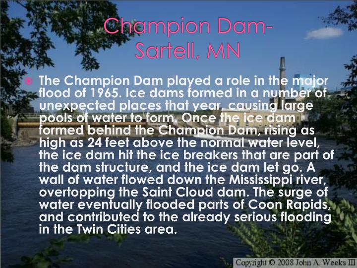 Champion Dam-