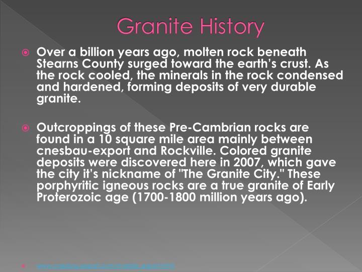 Granite History