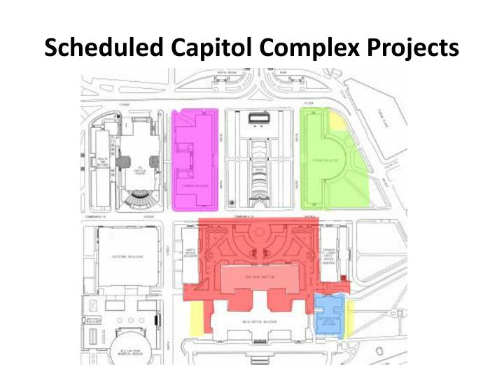 Scheduled capitol complex projects