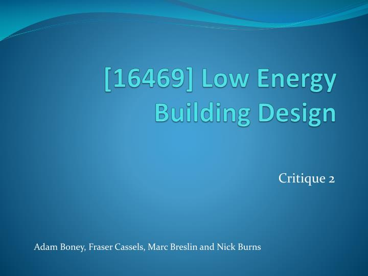 16469 low energy building design