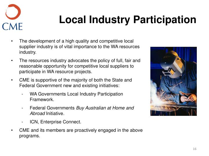 Local Industry Participation