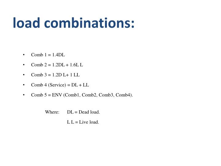 load combinations: