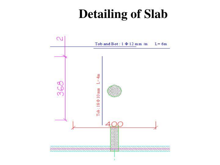 Detailing of Slab