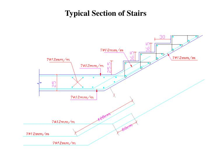 Typical Section of Stairs