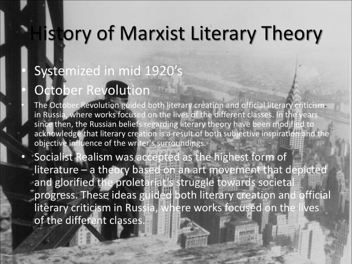 History of Marxist Literary Theory